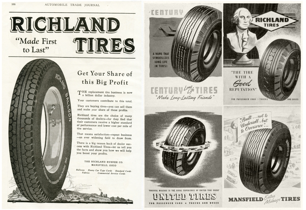 The Tire When The Road Belonged To Mansfield 1912 1979 Richland County History